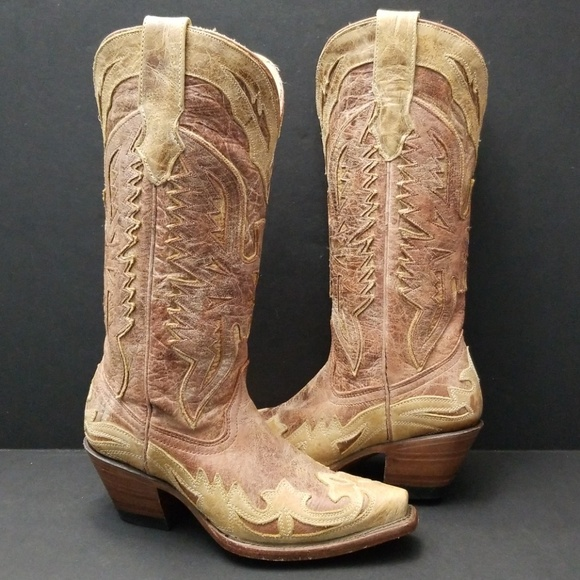 21a7d3afa0a CORRAL CRACKLE DISTRESSED WOMEN BOOT